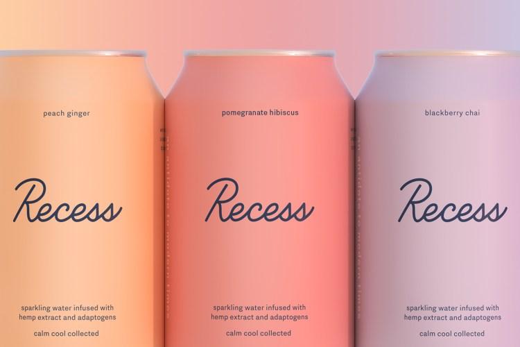 recess sparkling water cbd cans