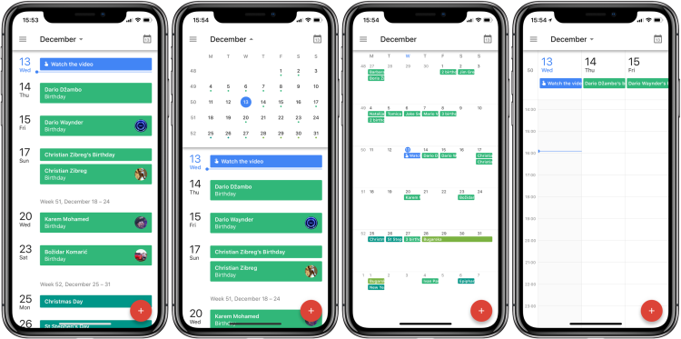 google calendar iphone x