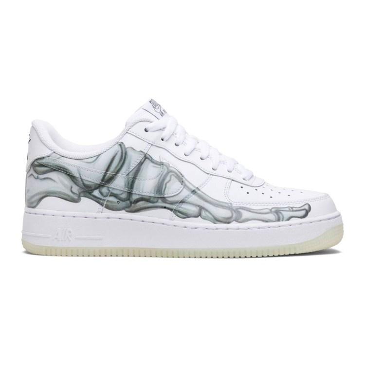 halloween sneakers af1 bone