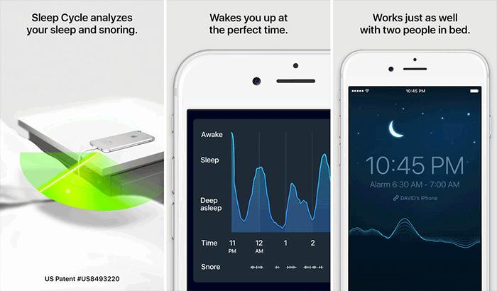 sleep cycle sleep tracking iphone app screenshot