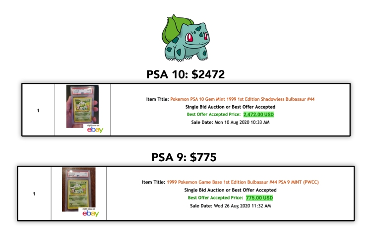 bulbasaur sold 0