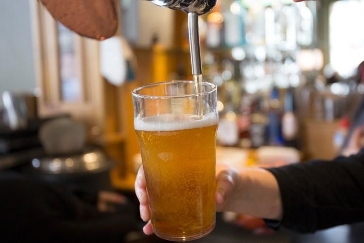 drinking beer horizontal