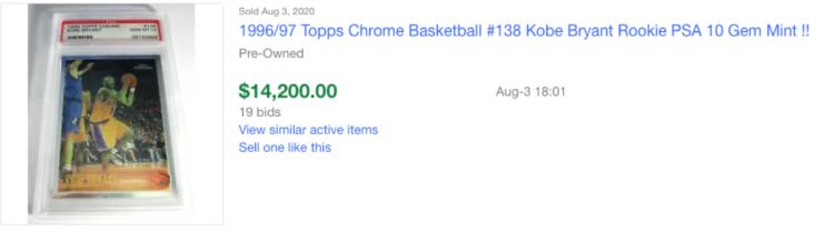 kobe ebay sold
