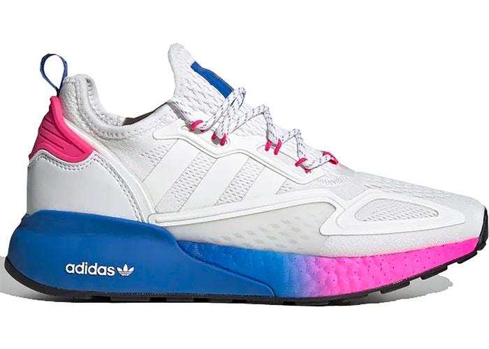 adidas zx 2k boost white pink blue w