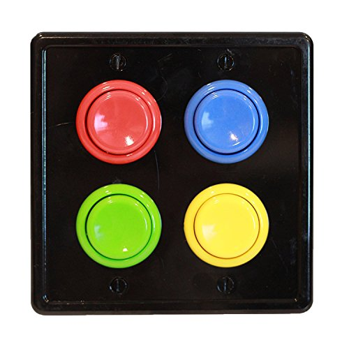 arcade light switch plate cover double switch 2 gang standard size rocker wall plate game room decorator kid bedroom wallplate faceplate replacement 0 0 1