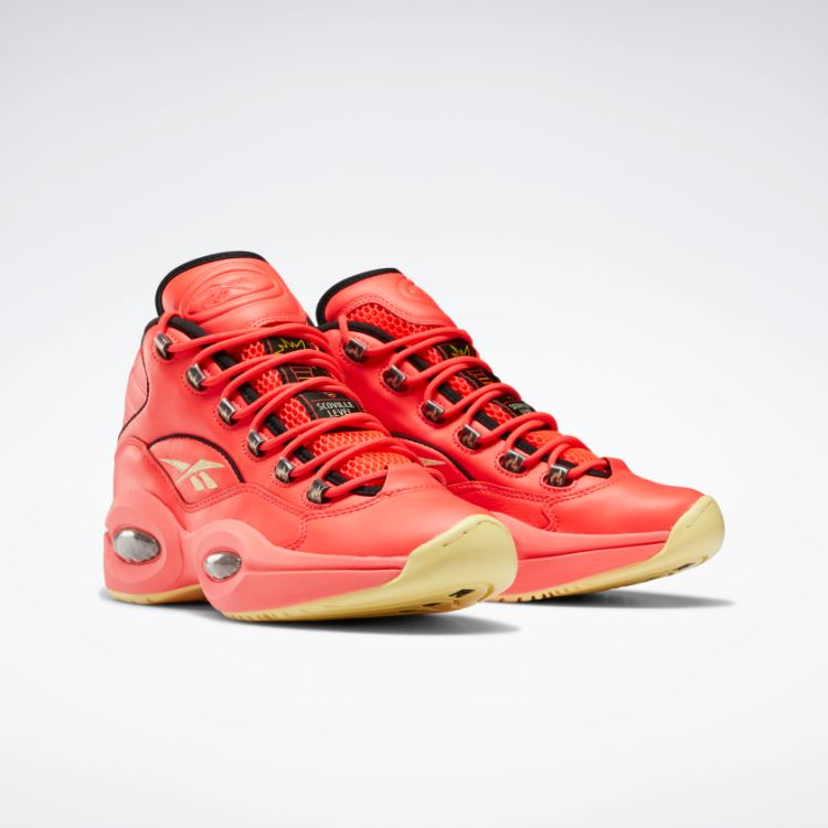 Hot Ones Question Mid Mens Basketball Shoes Pink GV7093 03 standard