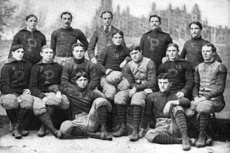 college football winning streaks 0004 1895 Penn Quakers team picture