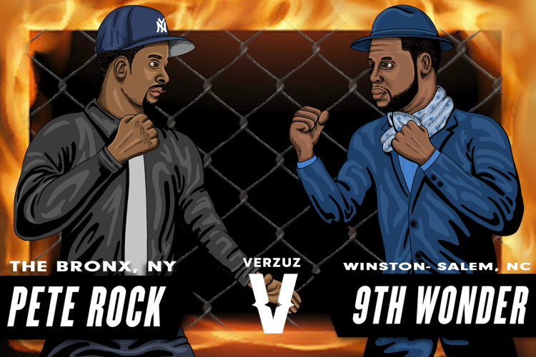 VS battle peterock 9thwonder