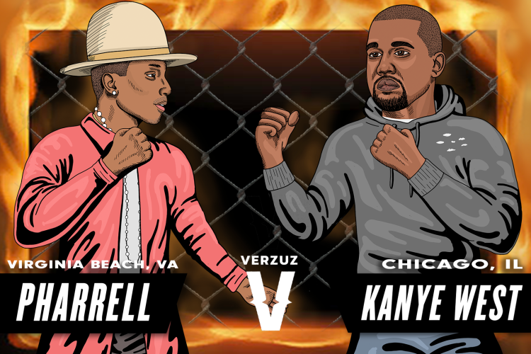 pharrell vs kanyewest