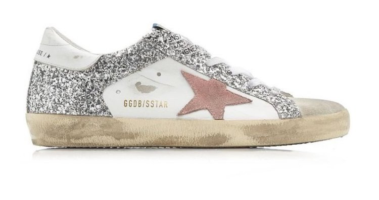 golden goose deluxe brand silver Superstar Glitter Leather Sneakers
