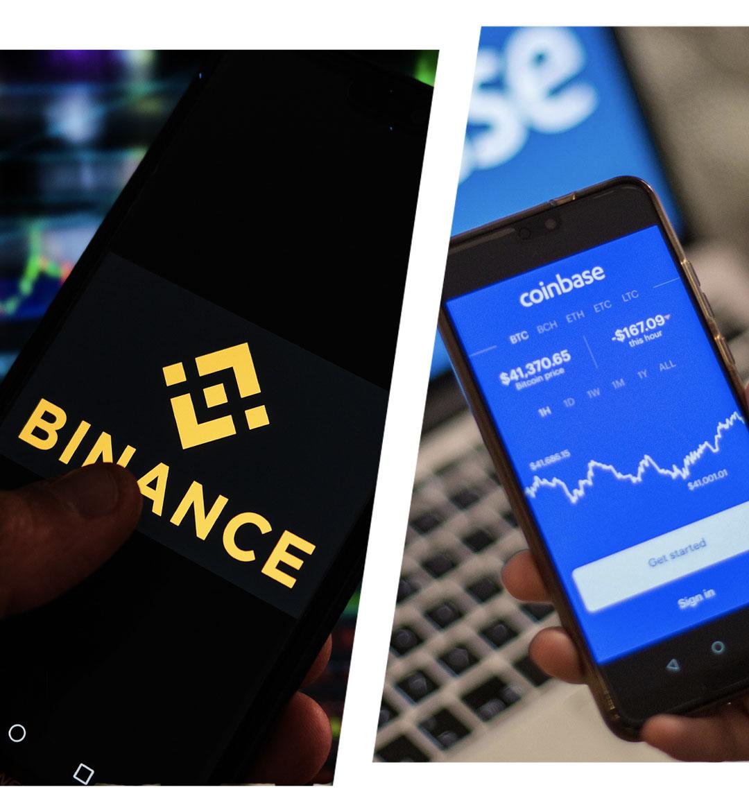 binance vs coinbase mobile