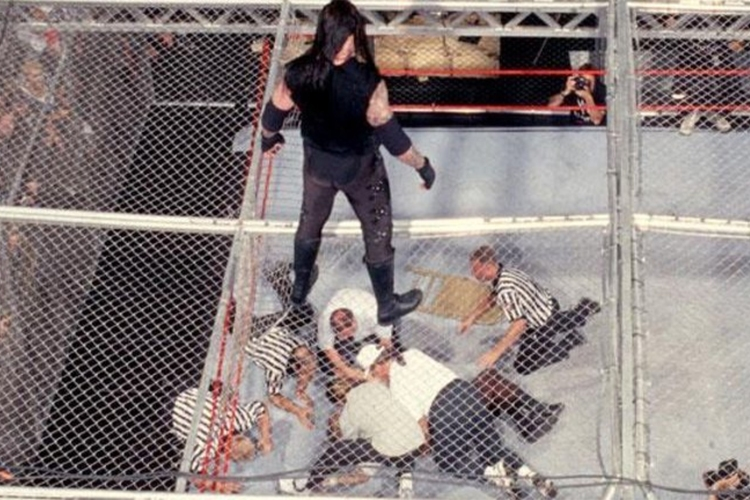 hell in a cell matches 0000 mankindundertaker