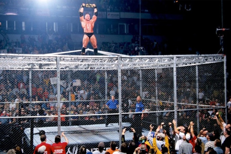 hell in a cell matches 0001 Brock Lesnar No Mercy 2002 Hell in a Cell