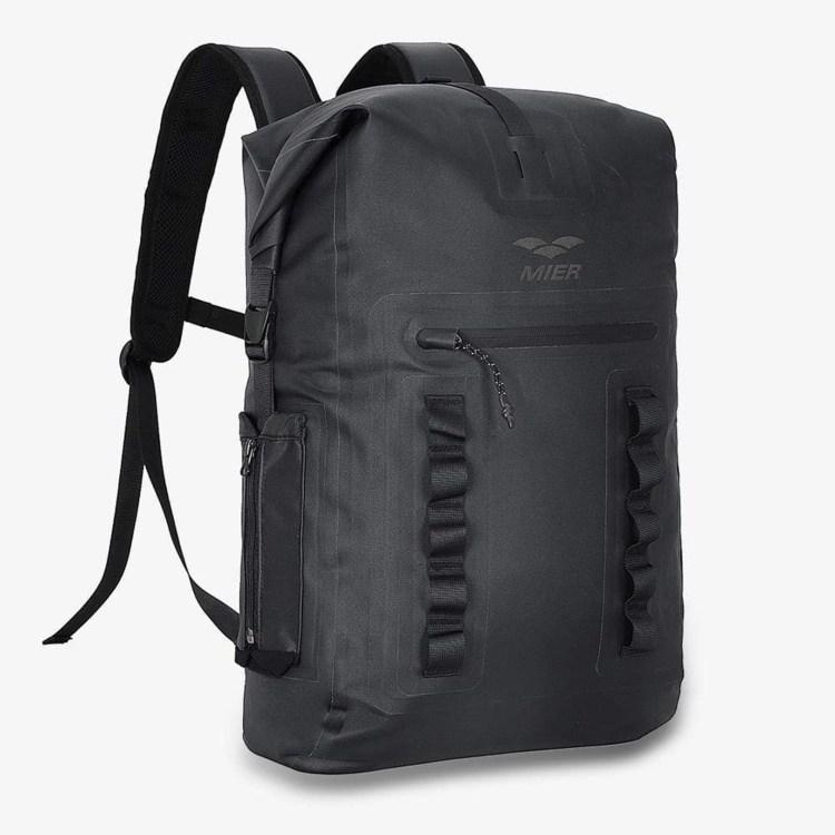 summer starter pack 0006 roll top closure dry bag waterproof backpack sack black mier 28316217147526