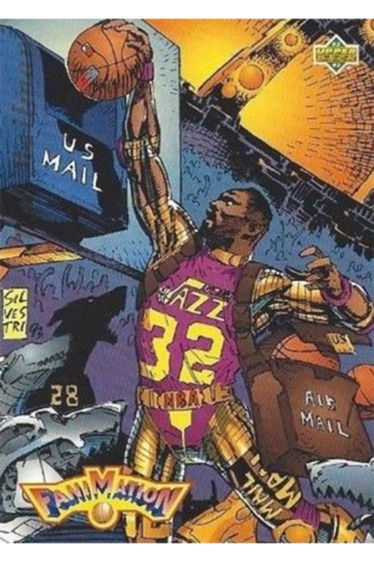 comics the national sports comic 0000 1992 93 Upper Deck Basketball 508 Karl Malone Fanimation 1