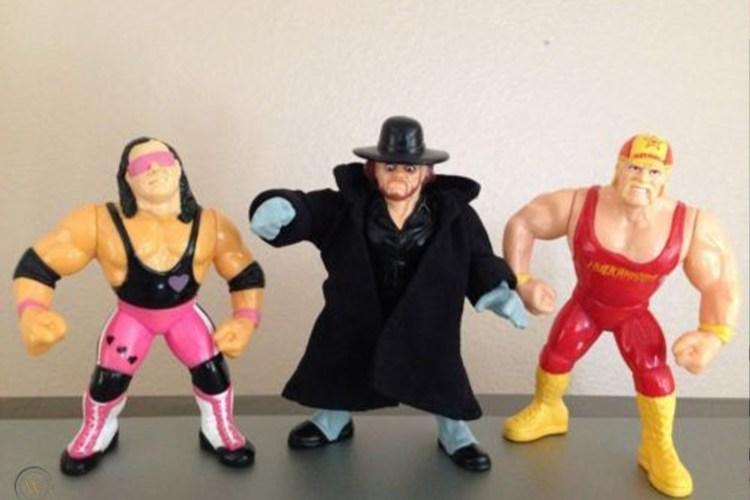 rare wwe action figures trio